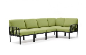 Sofa Komodo 5 Nardi Antracyt - Avocado