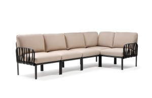 Sofa Komodo 5 Nardi Antracyt - Canvas