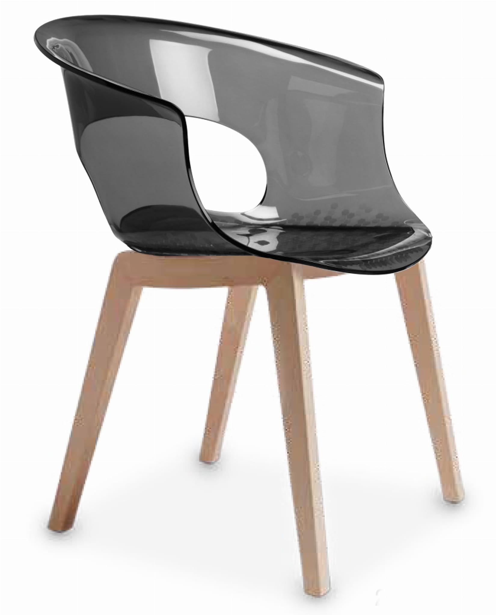 Krzesło Natural Miss B Antishock Scab Design nowoczesne drewniane poliwęglanowe do restauracji